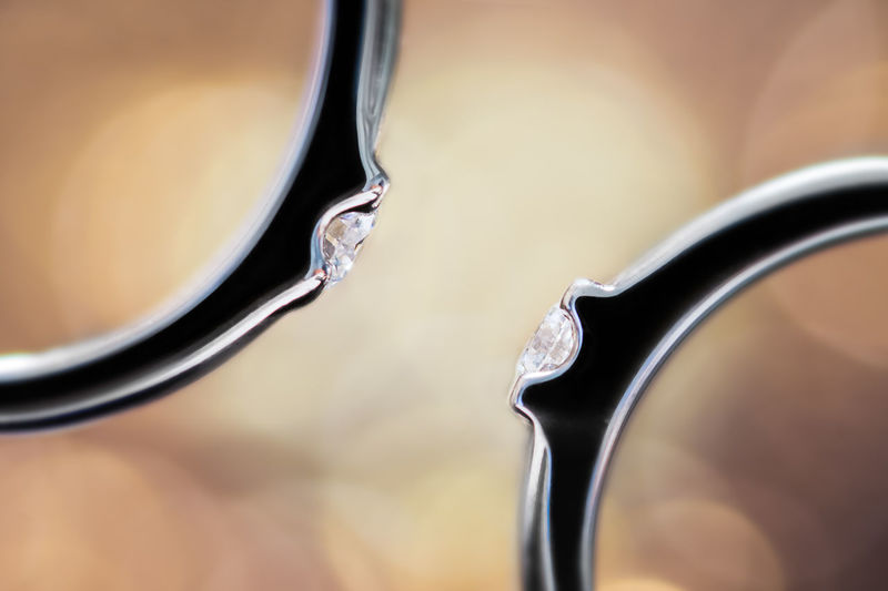 Close-Up Of Diamond Rings