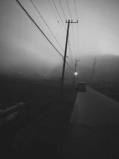 Black And White Fog gy Nightphotography Vscocam