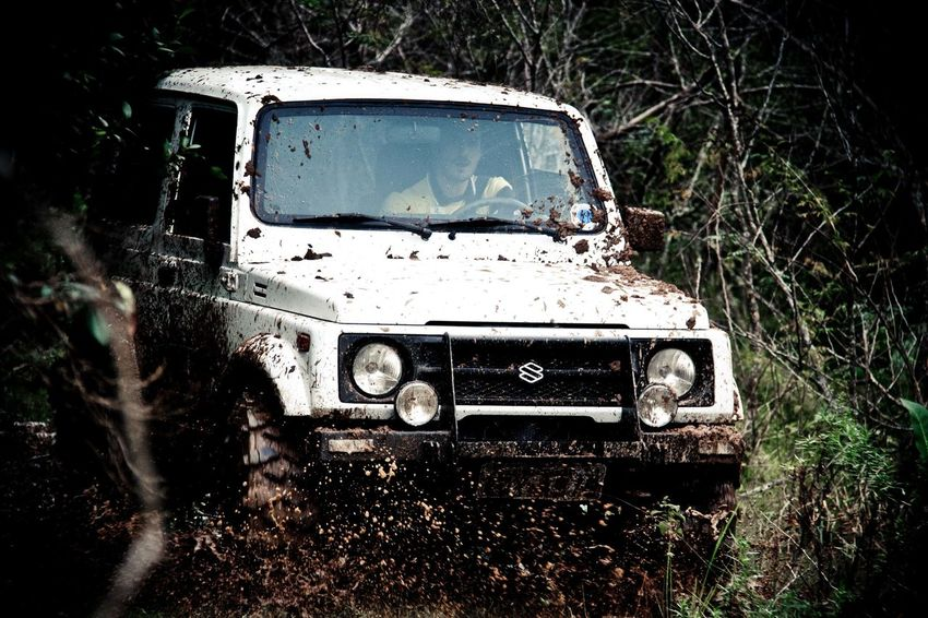 White Car 4x4 Bog Car Day De-stress Jeep Life Lifestyles Mud Off Road Outdoors Willys