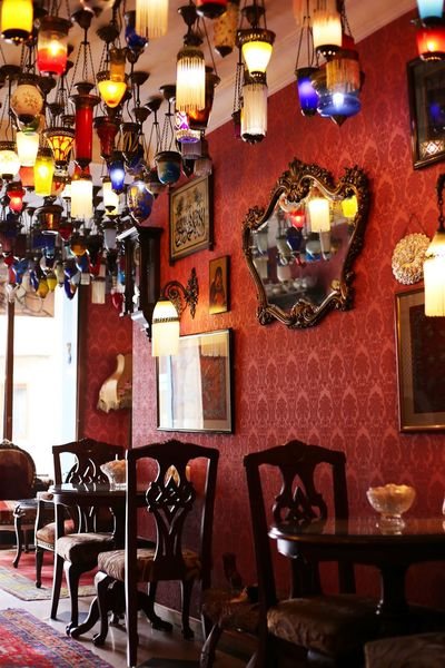 2015  Cafe Colorful Interior Interior Design Istanbul Kybele Hotel Lamp Lamp Hotel Restaurant Table Turkey Türkiye イスタンブール キベルホテル トルコ ランプ ランプのホテル Wall Picture