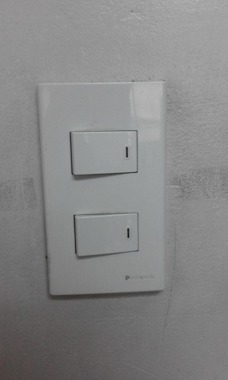 wall - building feature, light switch, electricity, no people, indoors, switch, fuel and power generation, electrical equipment, close-up, day, architecture