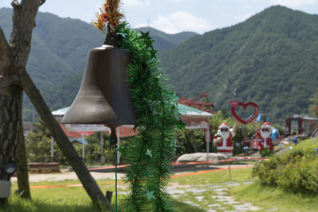 Christmas bell at Buncheon Railroad Station in Bonghwa, Gyeongbuk, South Korea Bell Bonghwa In Korea Buncheon Station Christmas Bell Outdoors Outfocus Rural Landscape Rural Scene