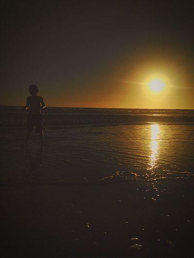 California beach in the fall Fall beach Sunset Silhouettes Runboyrun Eyeemphoto