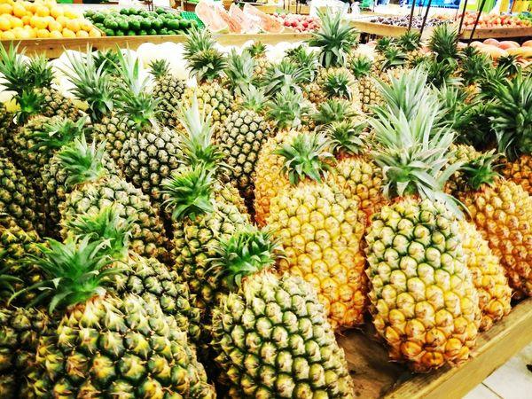 Pineapple Market Fruit Taiwan Food Taiwan Chaiyi