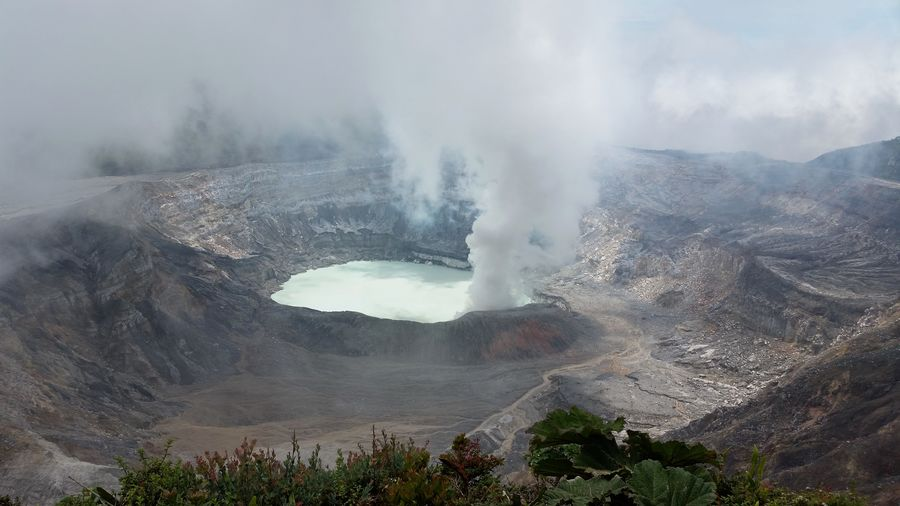 Poas Volcano Active Volcano Beauty In Nature Day Emitting Environment Erupting Geology Land Landscape Mountain Nature No People Non-urban Scene Outdoors Physical Geography Power Power In Nature Scenics - Nature Smoke - Physical Structure Tranquil Scene Volcanic Crater Volcano The Traveler - 2018 EyeEm Awards The Great Outdoors - 2018 EyeEm Awards