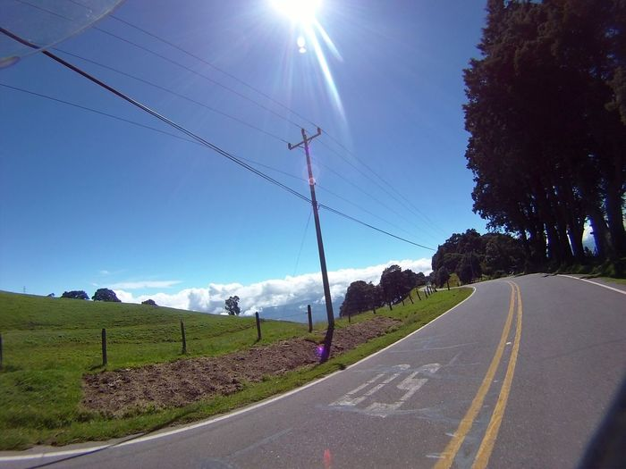 Road to heaven Road Sky Costa Rica Action Camera Landscape Motorcycle Diaries Biketour Rider Clouds My Year My View While Riding My Bike While Driving EyeEmNewHere The Great Outdoors - 2017 EyeEm Awards Live For The Story Place Of Heart The Street Photographer - 2017 EyeEm Awards A New Beginning