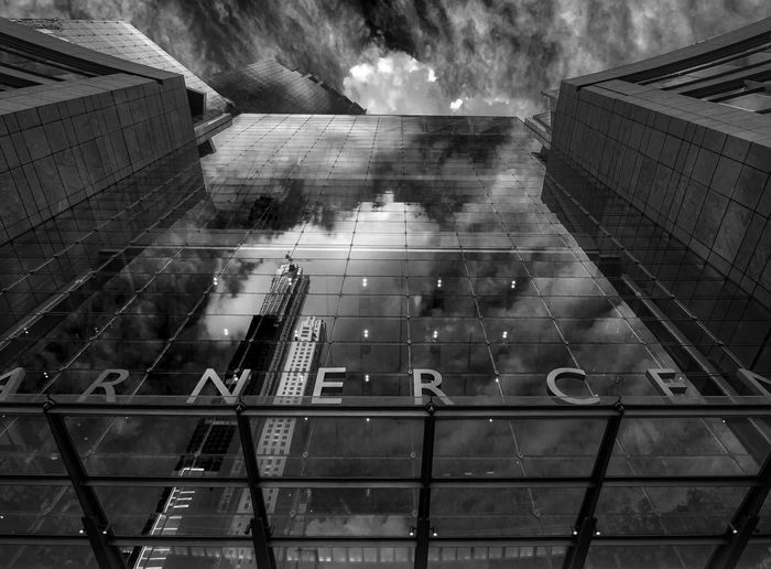 Entrance - Time Warner Center NYC Time Warner Center Glass Architecture Architecture Refelctive Architecture Perspective Landmark Black And White Cloud - Sky Building Office Building Exterior