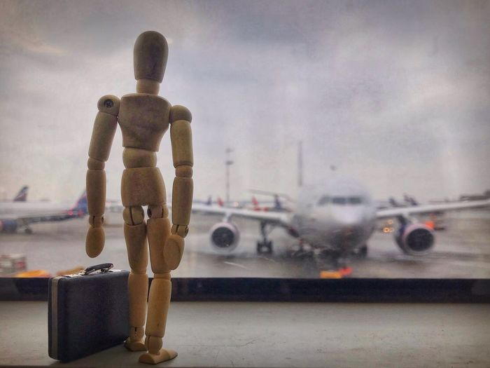 Woody goes to business trip ✈️ Sheremetyevo Airport Moscow Creativity Figurine  Woodyforest Business Trip Businessman Airport Transportation Human Representation Mode Of Transport Airplane No People Travel Stationary Technology Air Vehicle