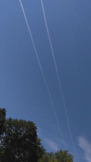 Love seeing these in the sky... Plane Contrails Blue Sky Very Inspired By My Muse Sawonmyadventure Contrails