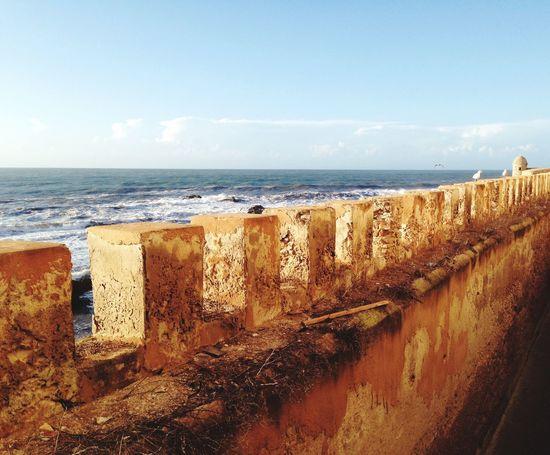 Marokko Morocco Essaouira Medina Meer Ocean Stadtmauer City Wall