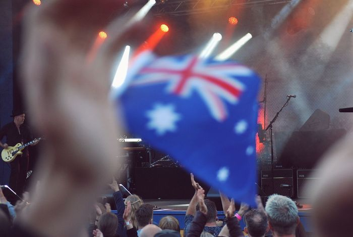 Midnight oil show Stage - Performance Space Stage People Flag Australia Concert Music Rock Music Show Midnight Oil The Street Photographer - 2018 EyeEm Awards The Photojournalist - 2018 EyeEm Awards Modern Hospitality The Architect - 2018 EyeEm Awards The Traveler - 2018 EyeEm Awards The Troublemakers Summer In The City