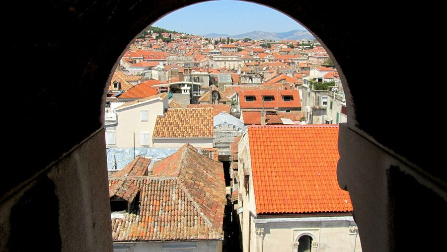 Architecture Built Structure City Window Arch Outdoors Orange No People Split Croatia Croacia Streets Facade Building Roofs Perspective Rooftop