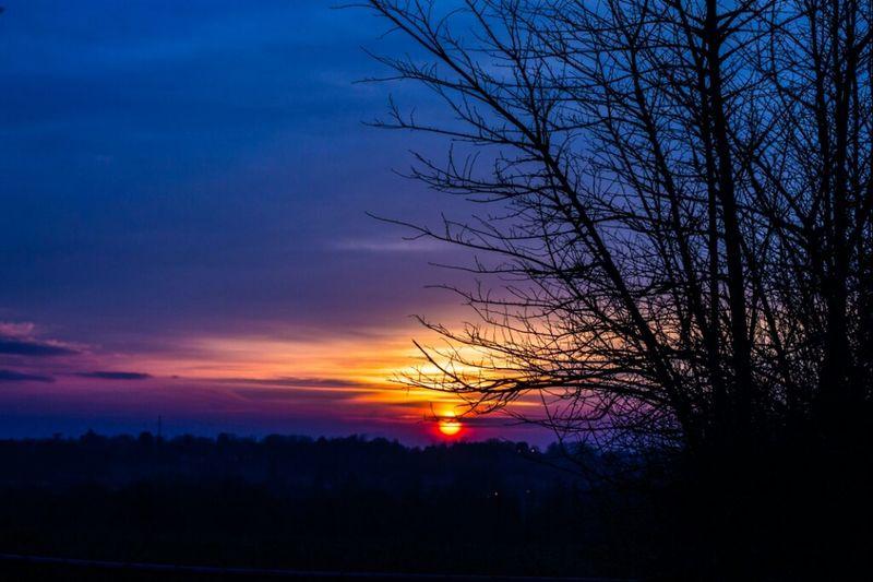 sundown over