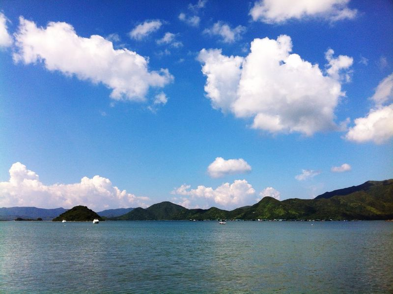 Hong Kong HONG KONG BEACH Sea View Sky And Clouds Blue Sky Dreaming Freedom Blue Sea The Great Outdoors With Adobe