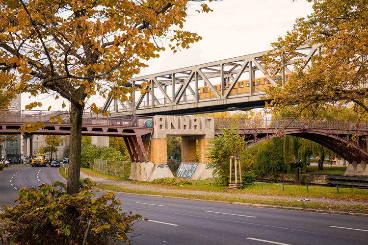 Tempelhofer Ufer Anhalter Bahnhof Architecture Bridge Bridge - Man Made Structure Built Structure Connection Covered Bridge Day Engineering Nature No People Outdoors Road Sky Tempelhofer Ufer Transportation Tree