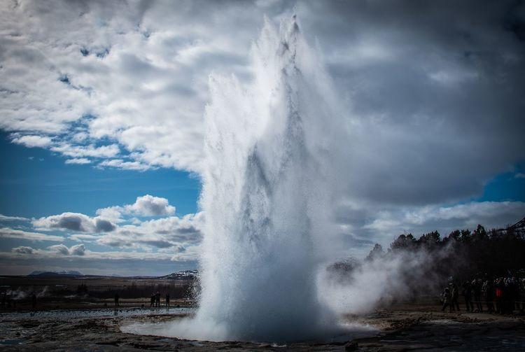 Strokkur geyser on iceland