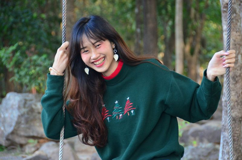 People Smiling Day Happiness Love Lifestyles Seasons Change EyeEm Selects Thailand EyeEm Fun Travel Nature Happy Time Beautiful Woman Toothy Smile Enjoy Women Outdoors Looking At Camera Cool Photography Cool Day Christmas Day Happy
