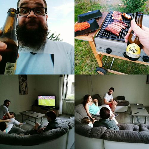 Hanging Out Good Times Some Friends Barbecuetime Barbu Barbe