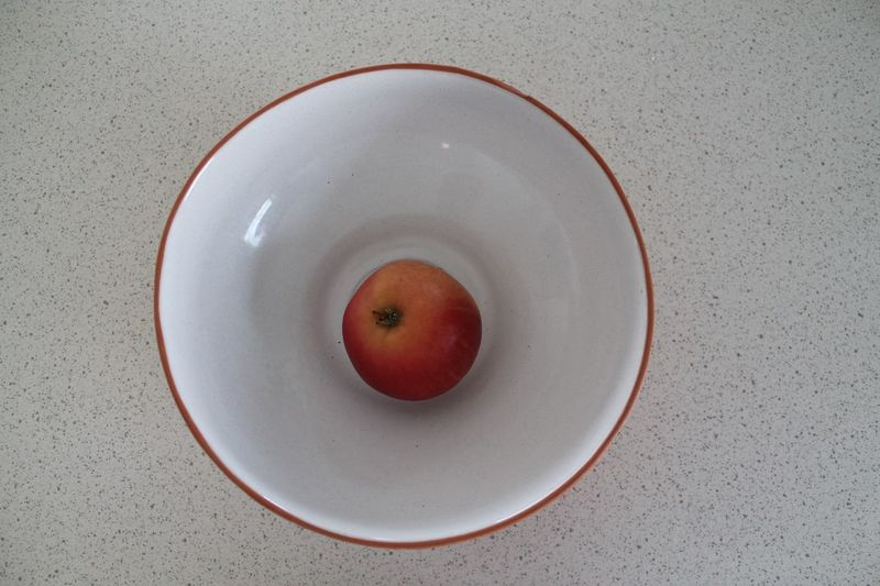 Apple in a bowl Apple Geometry Pattern Geometric Shape Perfect Circle Circular Round Angular Circle Healthy Eating Fruit Food And Drink Food Directly Above Wellbeing High Angle View Refreshment White Color Healthy Lifestyle Household Equipment Indoors  Still Life Freshness Drink Close-up Bowl Plate No People Red