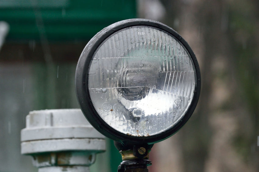 Lamp on train Close-up Day Focus On Foreground Forest Lamp No People Outdoors Teleobjektiv Train - Vehicle