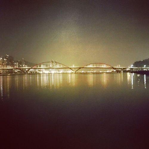 river Bridge Night Beauty Architecture