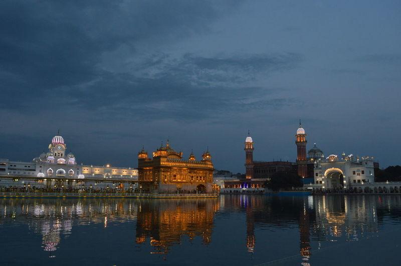 Reflection of sri harmandir sahib in pond