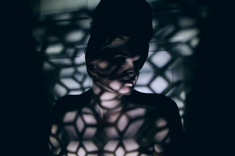 Bird in a cage. Broken Broken Glass Cinematic Darkness And Beauty Darkness And Light Film Film Noir Girl Grainy Halloween Horror Indoors  Night People Portrait Real People Shadow Spooky Young Adult Welcome To Black