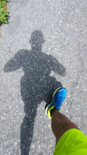 Bringin' the heat, you're welcome! Working Out Running Under Armour Asics Shoes Shadow That's Me Action Shot  Sports IWorkout