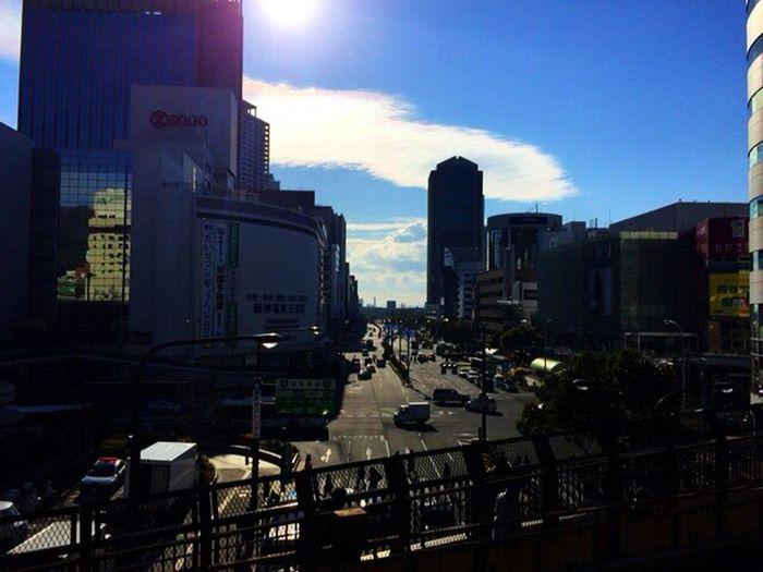 2015/01/02 おはようございます♪ Photo In The Morning On The Road Streetphotography Japan Clouds And Sky Sky Collection 日常生活 Architecture Landscape