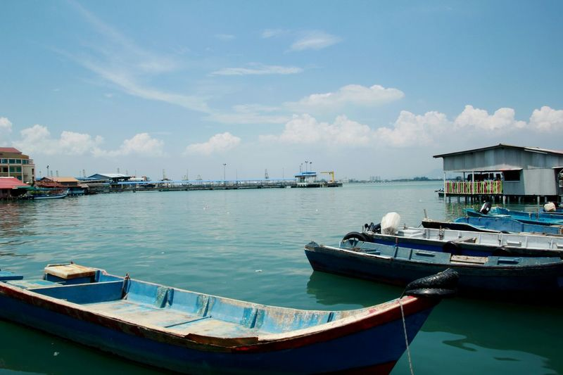 Penang Traveling Sea Old Harbour The Traveler - 2015 EyeEm Awards Holiday POV Boats Taking Photos Miles Away The Great Outdoors - 2017 EyeEm Awards Live For The Story Lost In The Landscape Perspectives On Nature