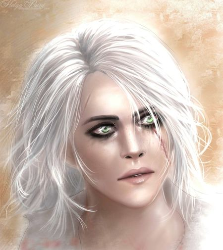 1995paint 2017 Ciri Cirilla HelgaPaint Sapkowski Art Face Fantasy Girl One Person Person Portrait Scar Thewitcher Thewitcher3 Thewitcher3wildhunt Young Women