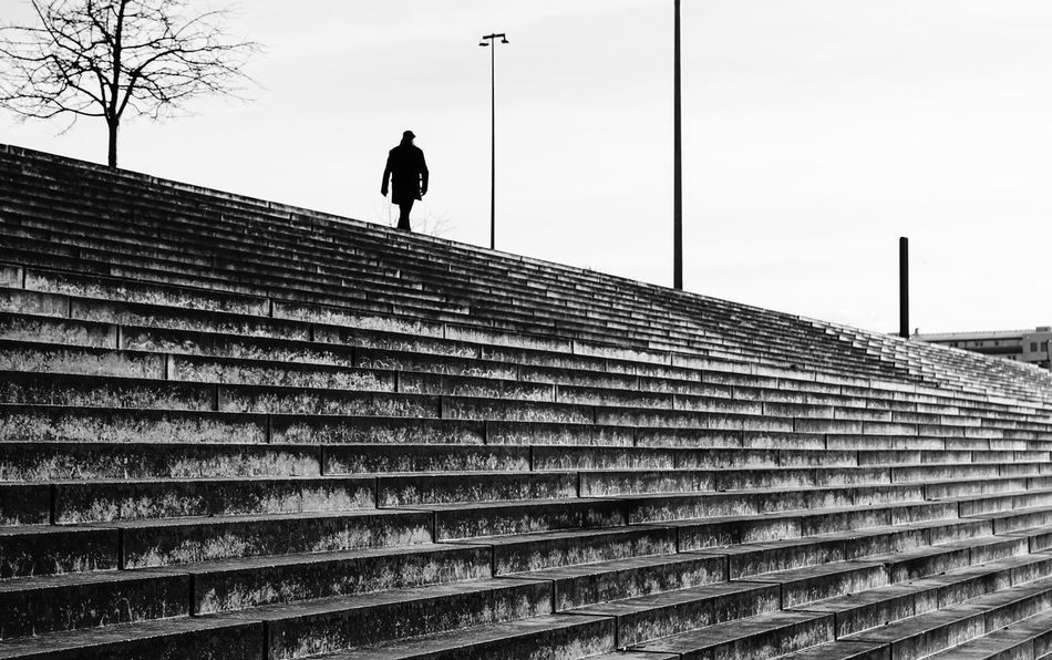 steps ... Allein Architecture Berlin Building Exterior Identity In A Row Leading Lonely Low Angle View Man Mann Patriotism Pattern Pole Prenzlauerberg Protection Real People Safety Street Photography Streetphoto_bw Streetphotography Stufen The Way Forward Treppe Urbanphotography
