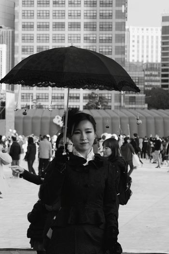 Portrait Art And Culture Festival Art Culture And Entertainment People Outdoors City Real People Day Standing Adult Smiling Black And White Party - Social Event Young Women Black And White Friday