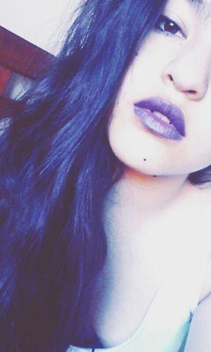 Try to sleep with a broken heart Self Portrait Purple Lipstick