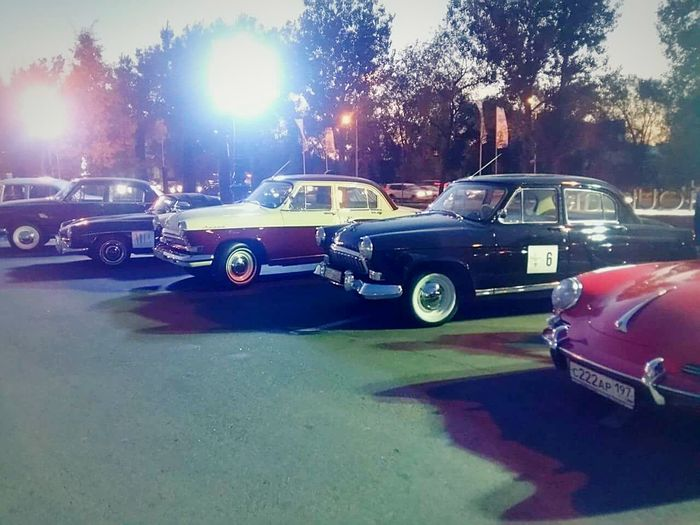 Car Retro Style Retro Car Evening