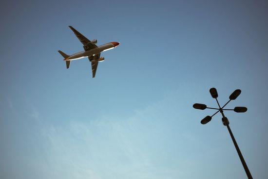 Air Plane Sky High Street Photography