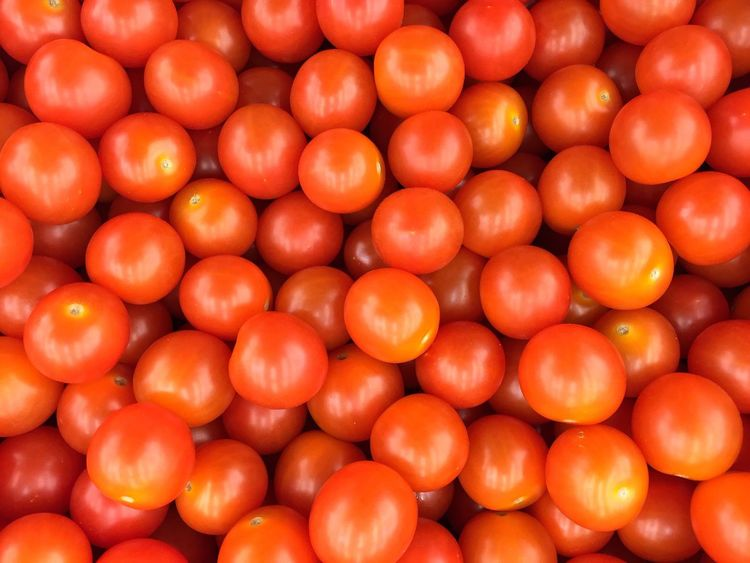Healthy Eating Freshness Orange Color Abundance Large Group Of Objects Orange - Fruit Food Retail  Red Food And Drink Vegetable Market Stall No People For Sale Business Full Frame Market Close-up Day Outdoors Tomato