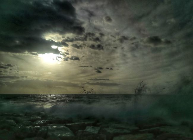 Energia in movimento #napoli Dramatic Sky Sea Sunset Nature Water Scenics Sky Tranquility Tranquil Scene Beauty In Nature Landscape Storm Cloud Horizon Over Water Travel Destinations Beauty No People Outdoors Environment