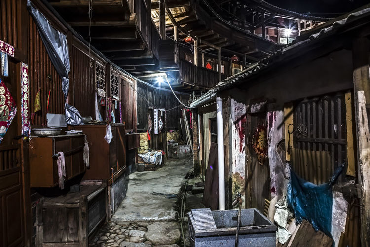 Tulou Tulou is the most extraordinary type of Chinese rural dwellings of the Hakka and others in the mountainous areas in southeastern Fujian, China. HUAWEI Photo Award: After Dark Architecture Building Built Structure Day Hakka Night Night View No People Old Rural Dwelling