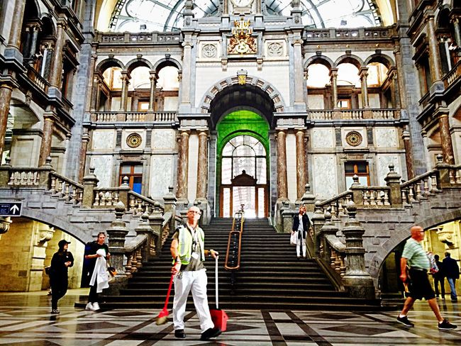 PhonePhotography Train Station Centraal Station Antwerpen Belgium People Beautiful Beauty Insider Architecture