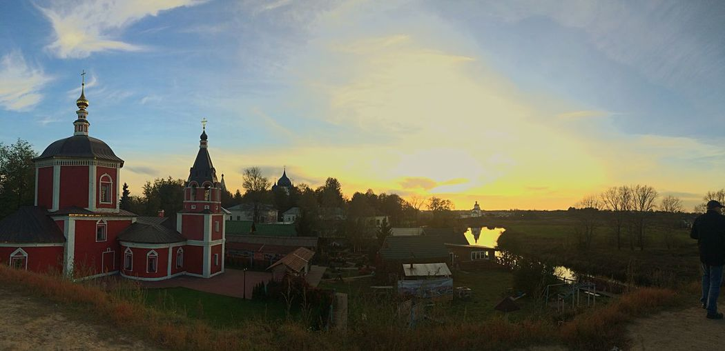 Golden Ring Of Russia River Church Sunset