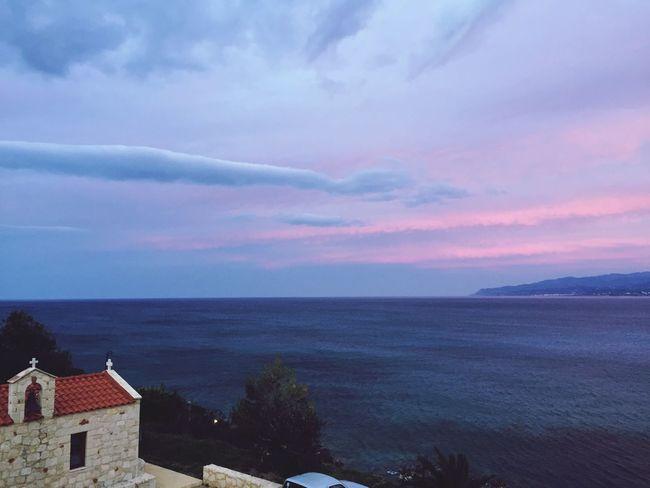 Amazing View View From Balcony Stalida Creta
