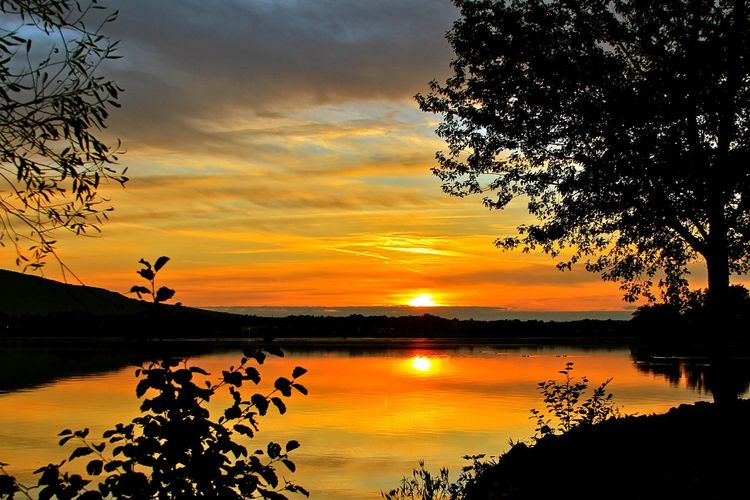 Beauty In Nature Day Idyllic Lake Landscape Mike Stouffer Nature No People Outdoors Reflection Scenics Sky Sunset TheSixthLens Tranquil Scene Tranquility Tree Water