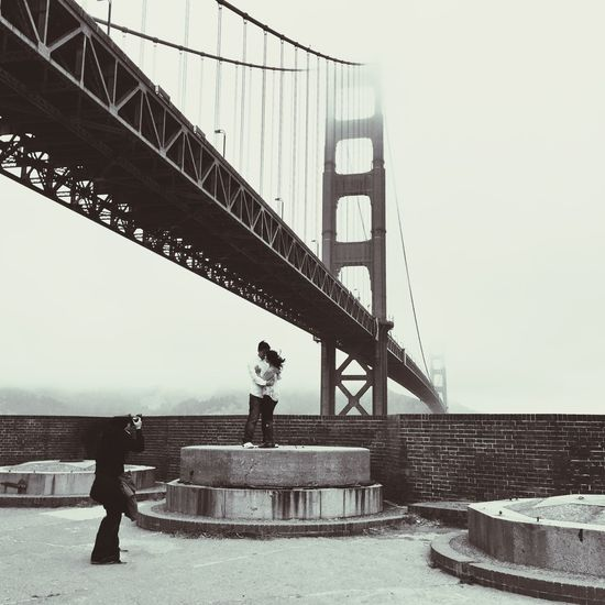Document your love in famous places San Francisco California GoldenGateBridge Black & White Black And White Travel Photography