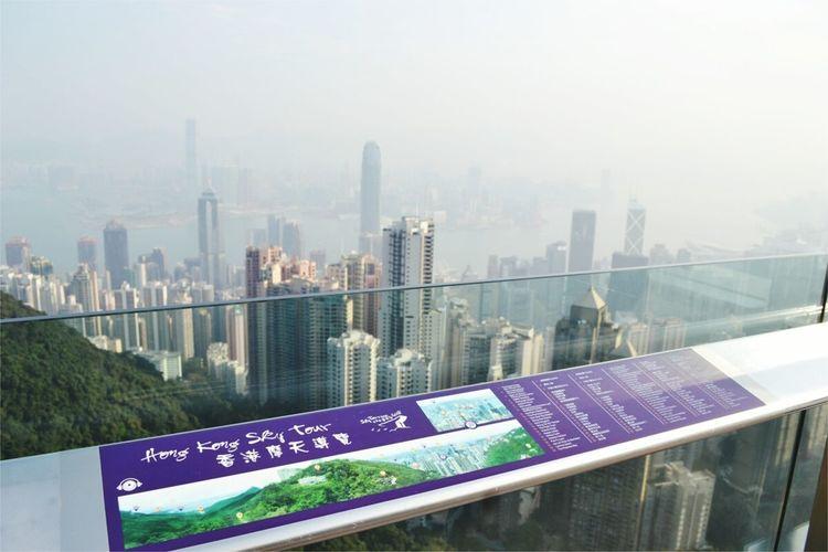 View of Hong Kong from The Peak. HongKong Travel Cityscapes Skyline Thepeak