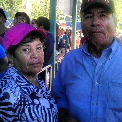 My lovely grandparents(My dad's parents lol) having a good time with the whole family :) Grandpa & Grandma Frommexico Gottalovethem :)