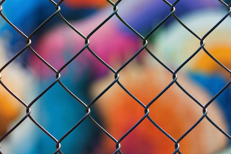 Arts District DTLA Graffiti Murals Chainlink Fence Colorful Dtla Art District Fence Graffiti Art Graffiti Wall