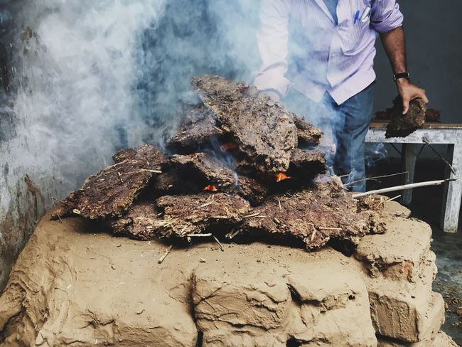 Ancient Ayurveda Bhasma Burning Close-up Day Extreme Terrain Fire Firewood Geology Global Warming Heat - Temperature Log Manure Medicine Making Non-urban Scene Outdoors Physical Geography Ritual Smoke Smoke - Physical Structure Tourism Vacations Vrindavan