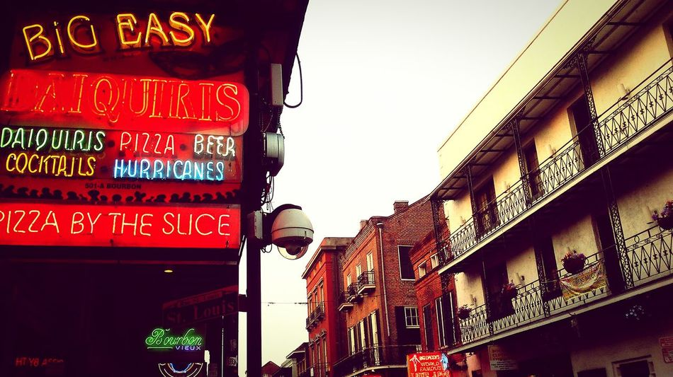 NOLA New Orleans EyeEm Happy Day☺ New Orleans, LA Hanging Out Bourbon Street Neon Lights Street PhotographyNeon Light Taking Photos Enjoying Life Historical Building Vacation Time Party Time Let's Have A Drink Cocktails EyeEm Best Shots Restaurants entertainment Walking Around Foodies French Quarter Phoneography The Irwin Collection Historic City Jazz Musicians Travel PhotographyBig Easy urban lifestyle things I like