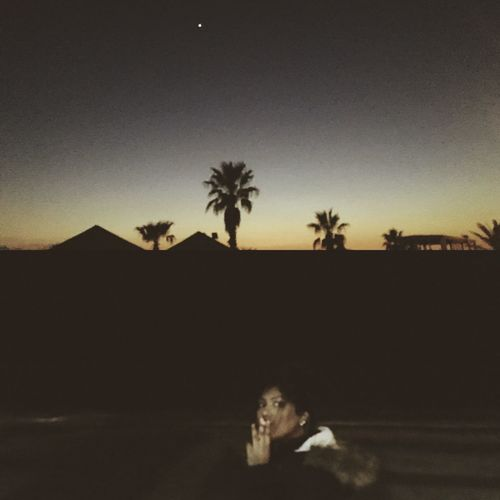 Piramid Girl Smoking Aftersunset Beach Palms One Person Sky Nature Real People